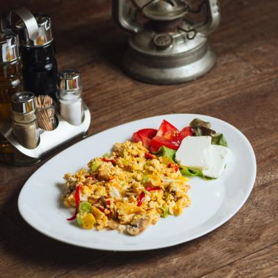 Indian keto Diet Non-Vegetarian Scrambled Eggs