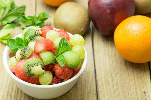 Kiwi, Lime, Watermelon Salad