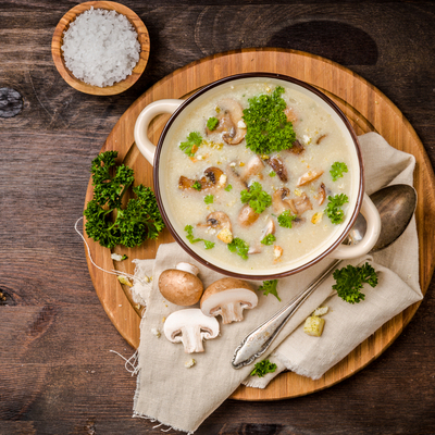 Indian Keto Diet Vegetarian - Cream of mushroom soup