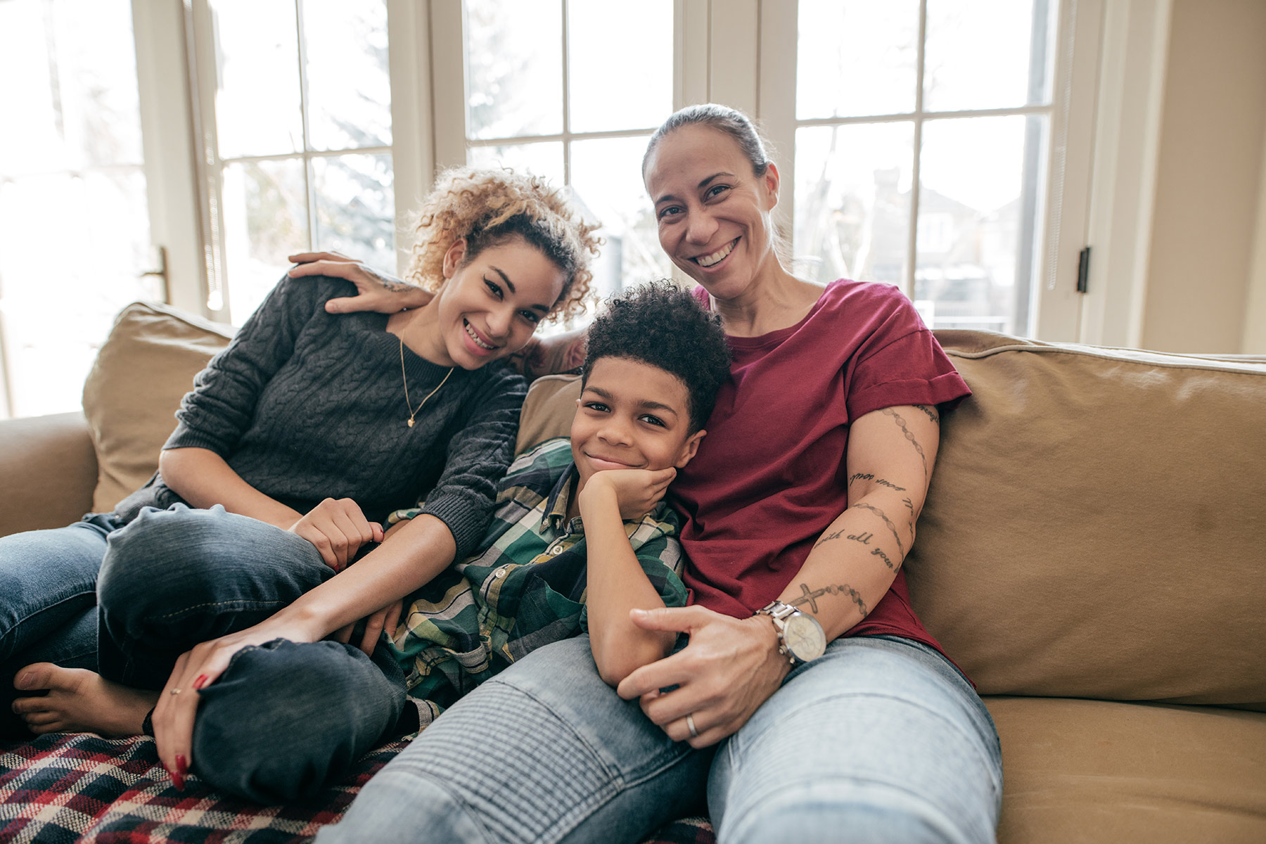 photo of kids parenting women child family