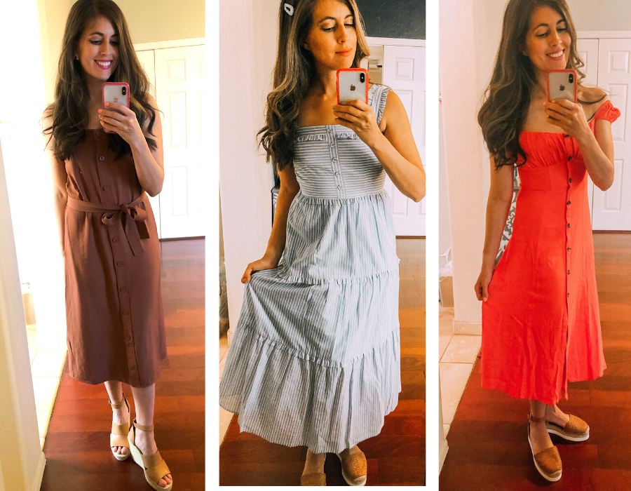 summer 2020 casual and date night dresses. fitnessista.com