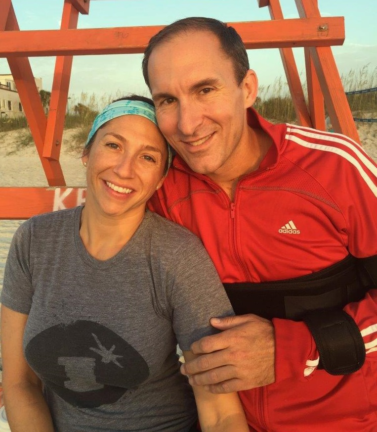 J.R. Bourne with his wife Pam in Jacksonville Beach, Florida. (Photo courtesy of J.R. Bourne)