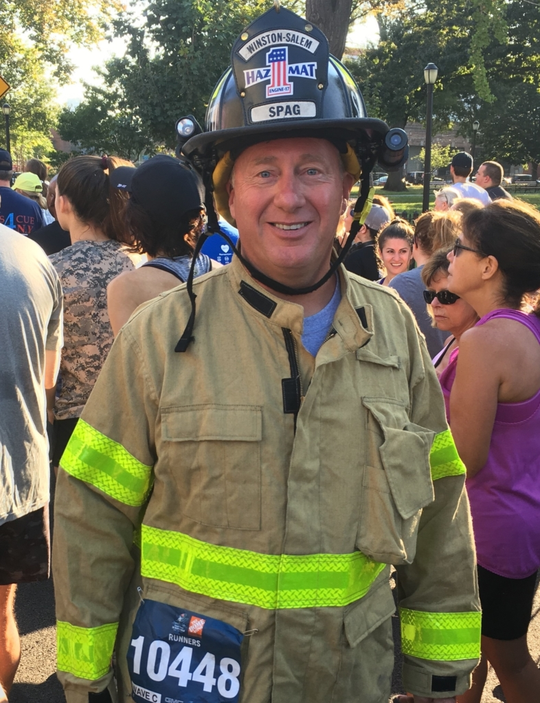 Tony Spagnoletti at the Stephen Siller Tunnel to Towers 5K in New York on Sept. 24, 2017. (Photo courtesy of Tony Spagnoletti)