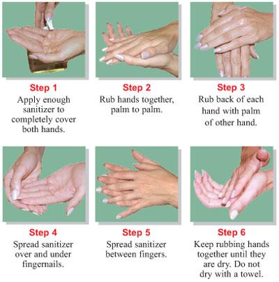 steps for sanitizer