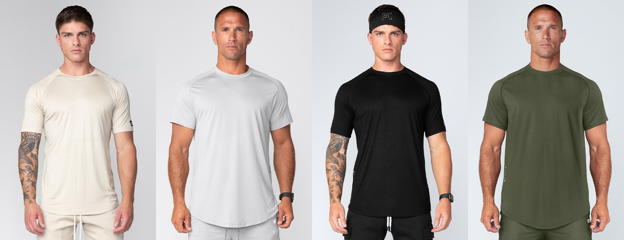 Born Tough Men Air Pro Short Sleeves Fitted Tee
