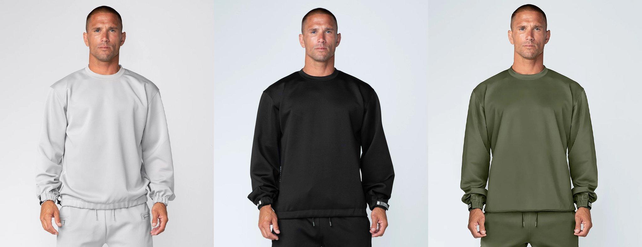 Born Tough Momentum Crew Neck Long Sleeve Shirt For Men