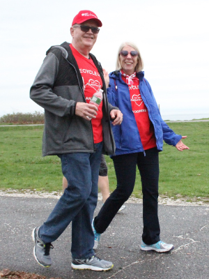 Heart recipient Jerry McCann and his wife, Margaret, have participated in Heart Walks in 16 states so far. (Photo courtesy of Jerry McCann)
