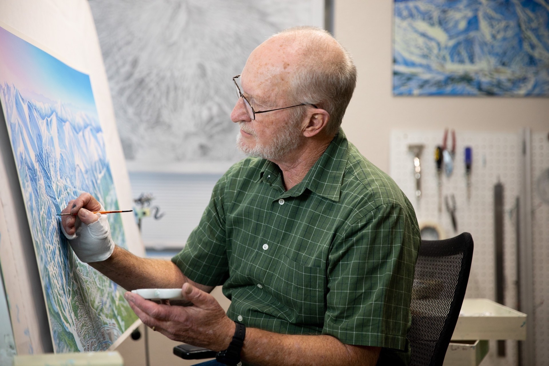 James Niehues ski map painter