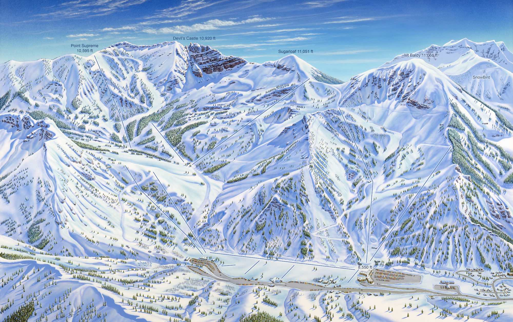 James Niehues Alta ski are map