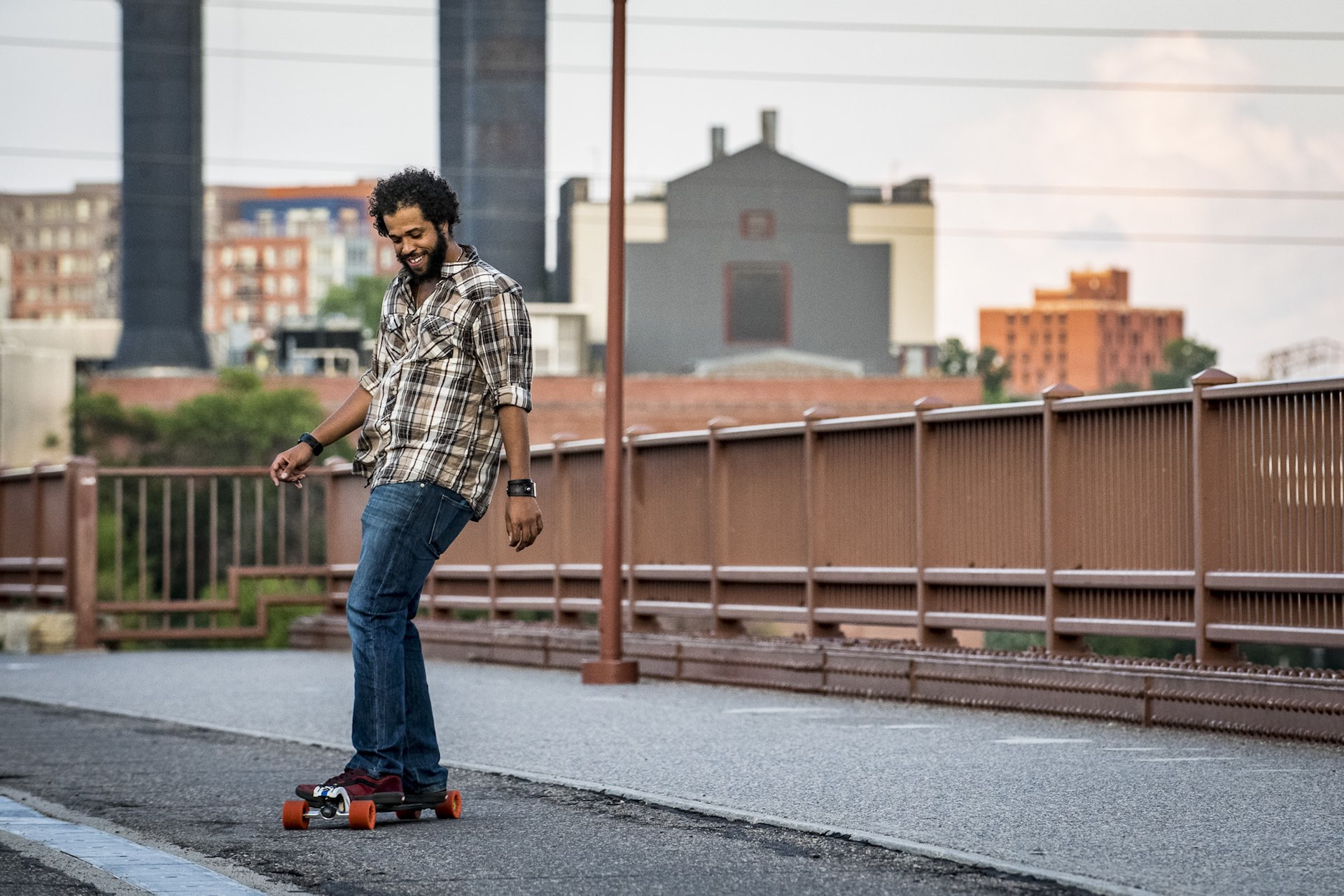 Miles Kipper Minneapolis longboarding longboarder I-35 bridge hero I