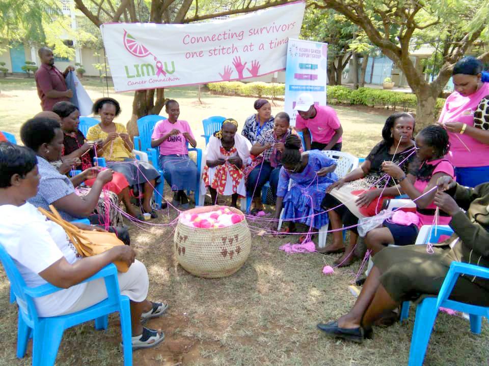 Limau Cancer Connection Knitting Circle at Jaramogi Oginga Teaching and Referral Hospital, in Kisumu, Kenya.
