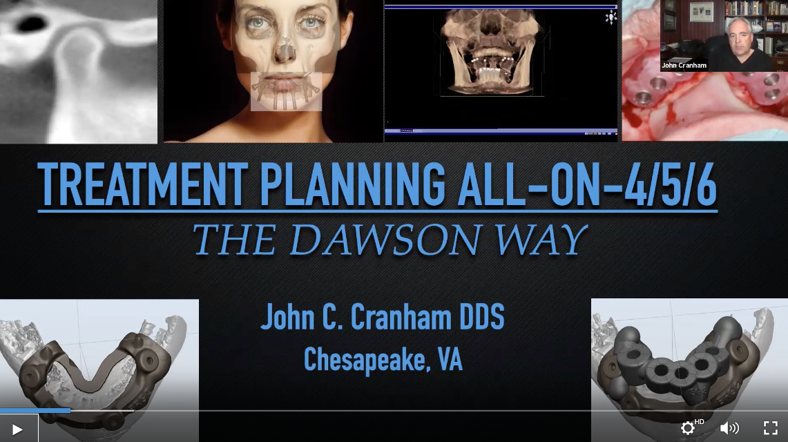 Dr John Cranham Treatment Planning Webinar
