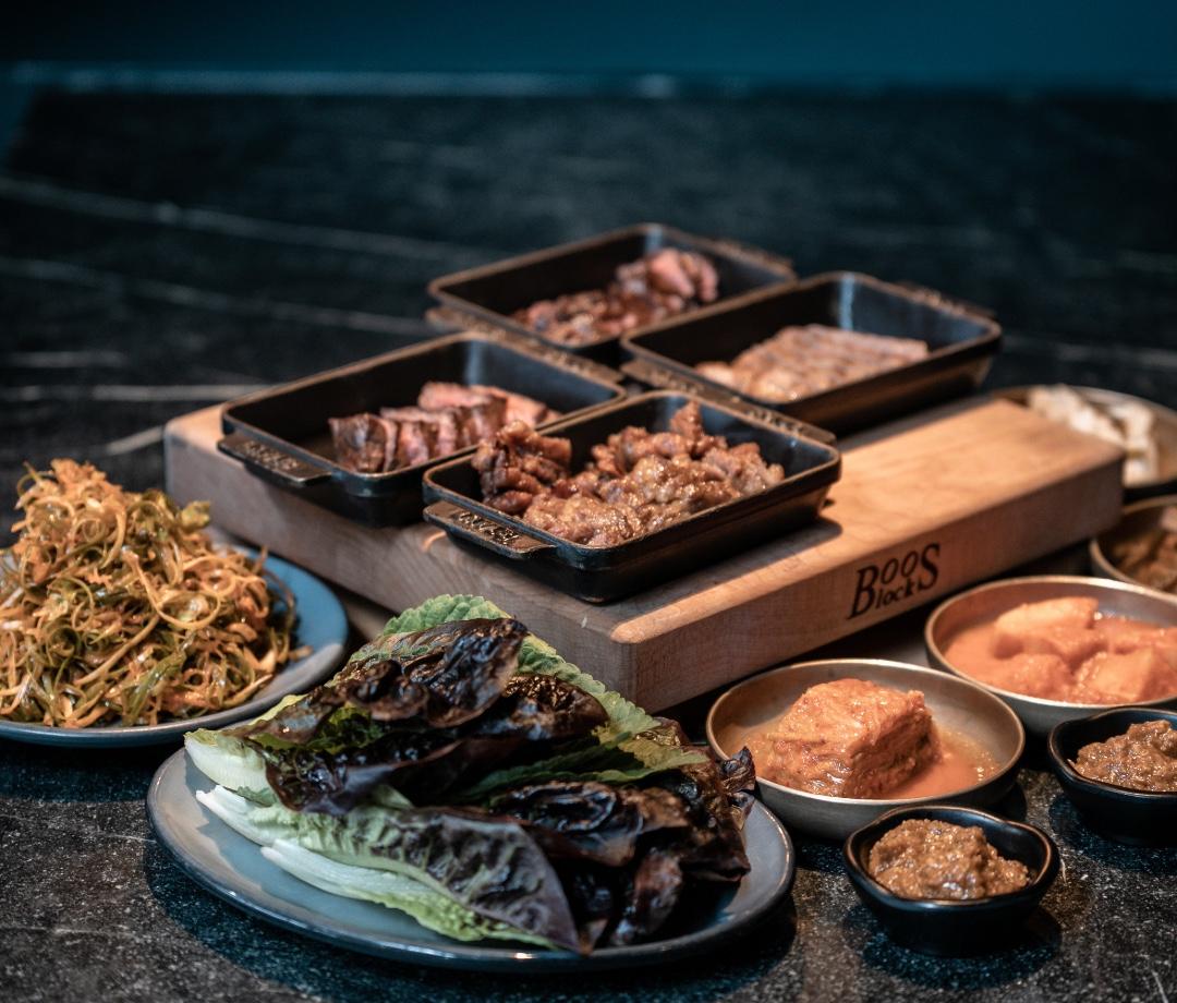 Korean BBQ at Cote restaurant in New York City