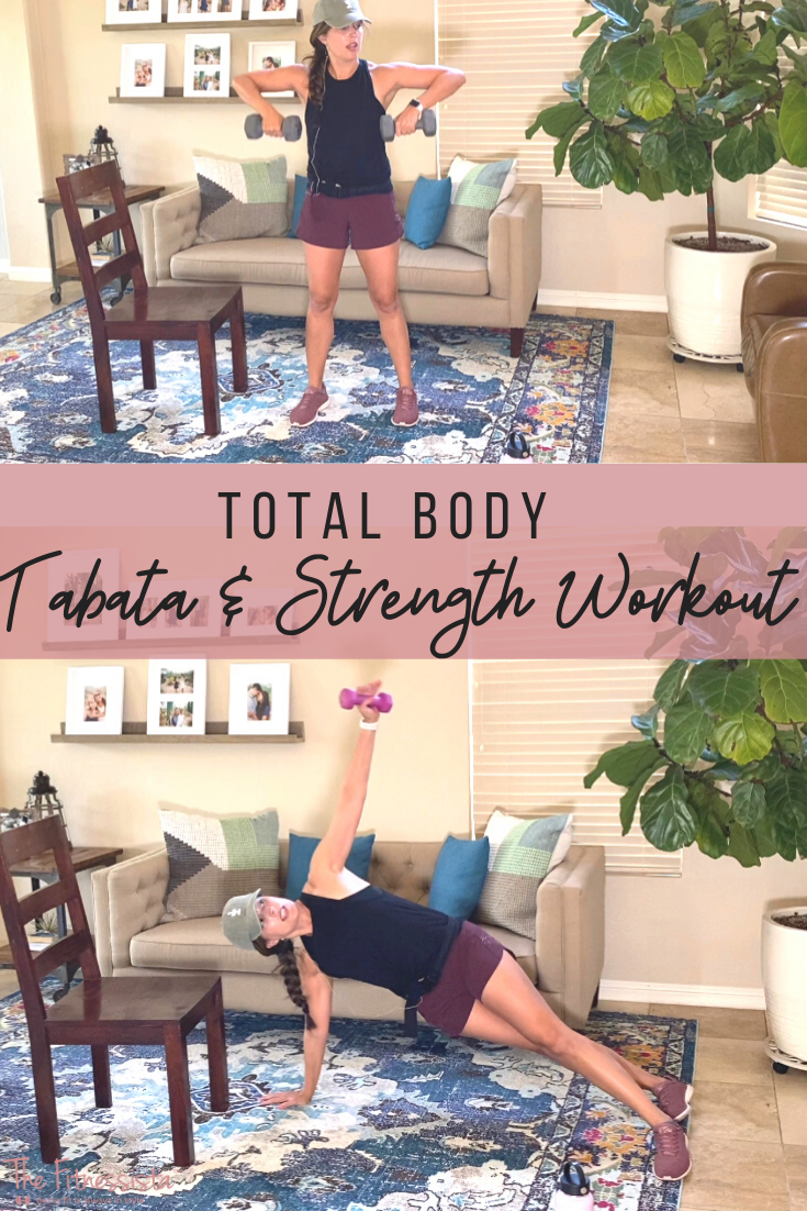 Total Body Strength and Tabata Workout. Get in a total body strength and HIIT workout in 27 minutes! Video here: fitnessista.com