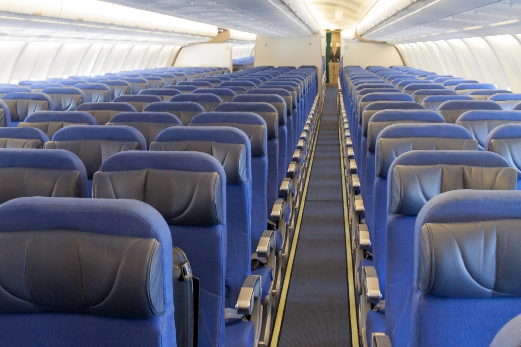 photo of lifestyle empty airplane seats