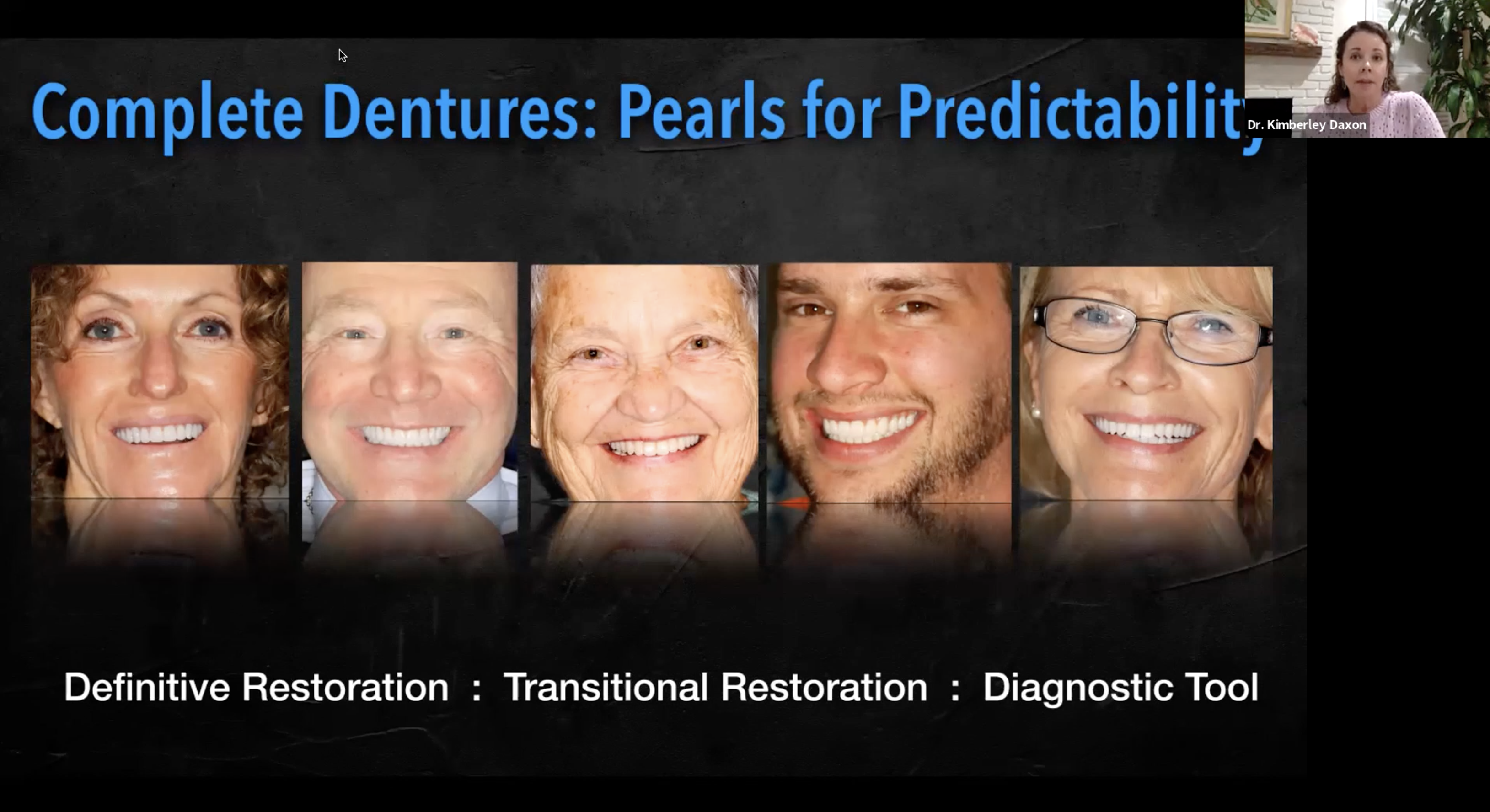 Dentures CE Course The Dawson Academy Dr. Kim Daxon