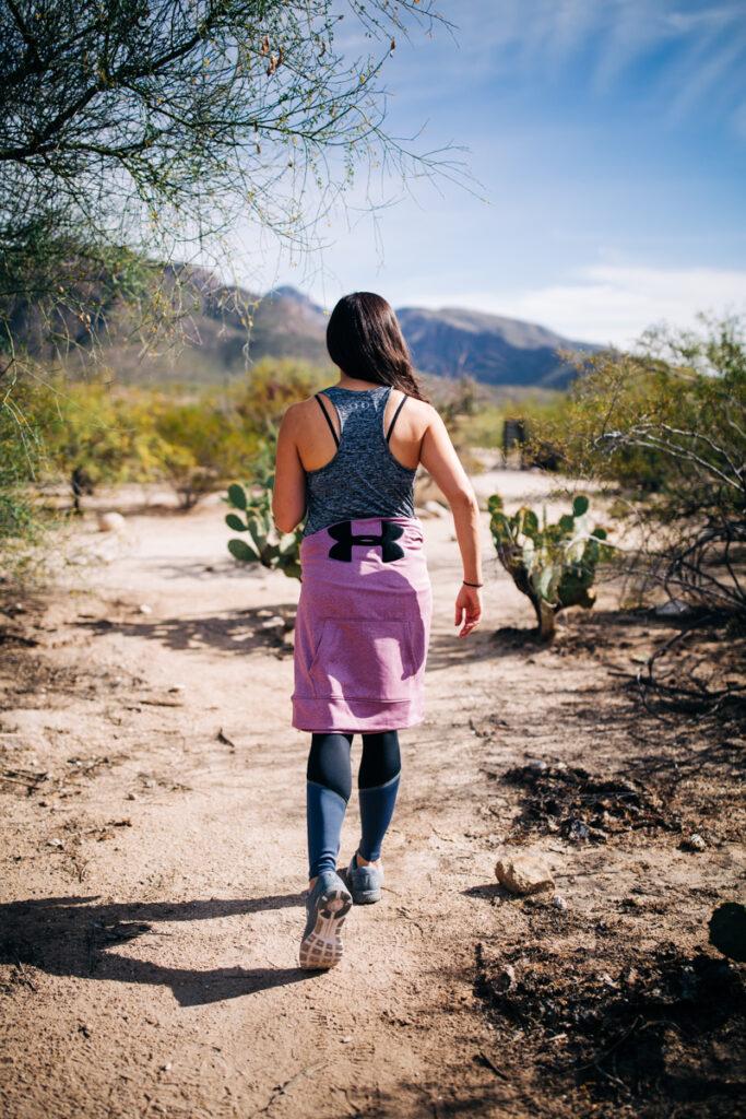 Girl running in the desert