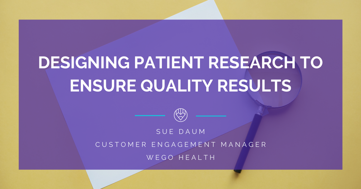 designing patient research to ensure quality results