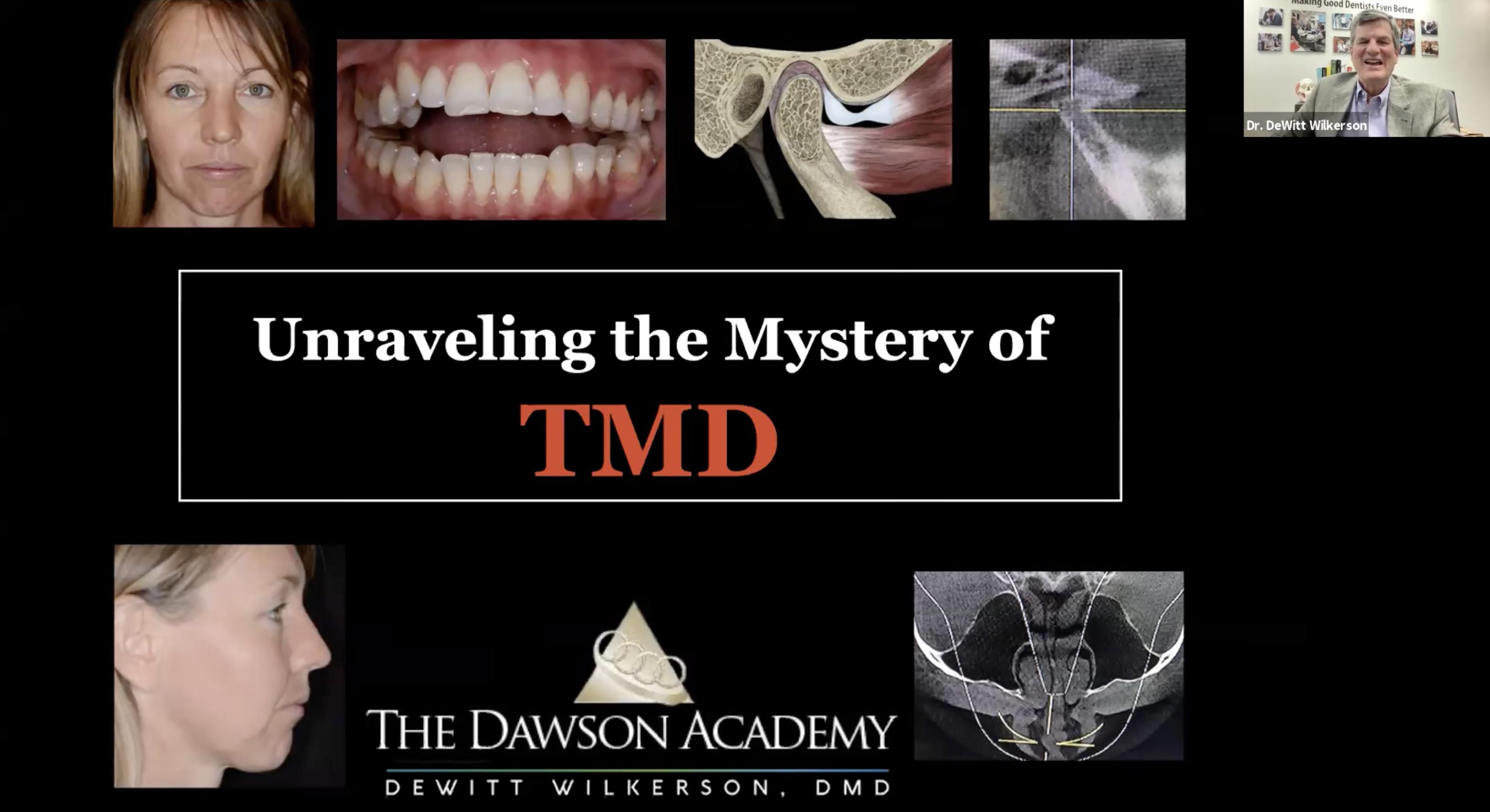 Dental CE TMD Course Webinar Live Stream