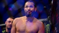 Jorge Masvidal celebrates his knockout victory over Ben Askren