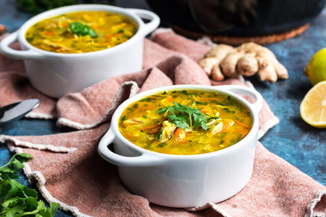 ginger turmeric chicken soup