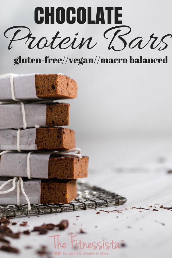 Chocolate protein bars with sweet potato