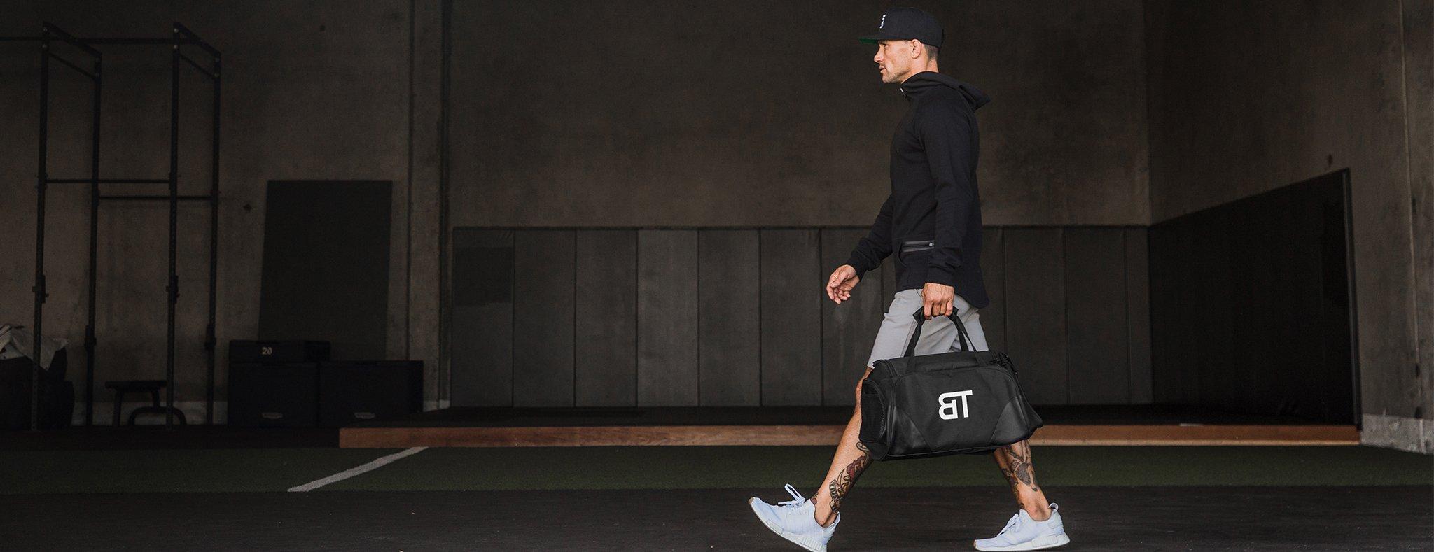 Born Tough Black Gym Bag