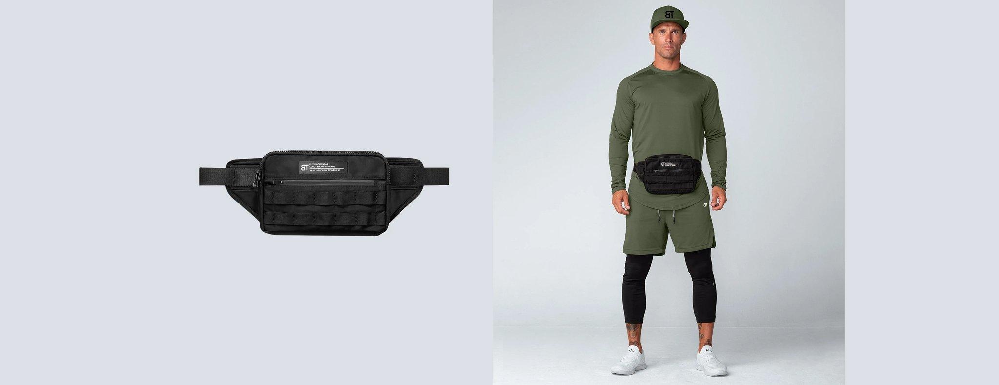 Born Tough Molle Utility Cross Body Bag Black