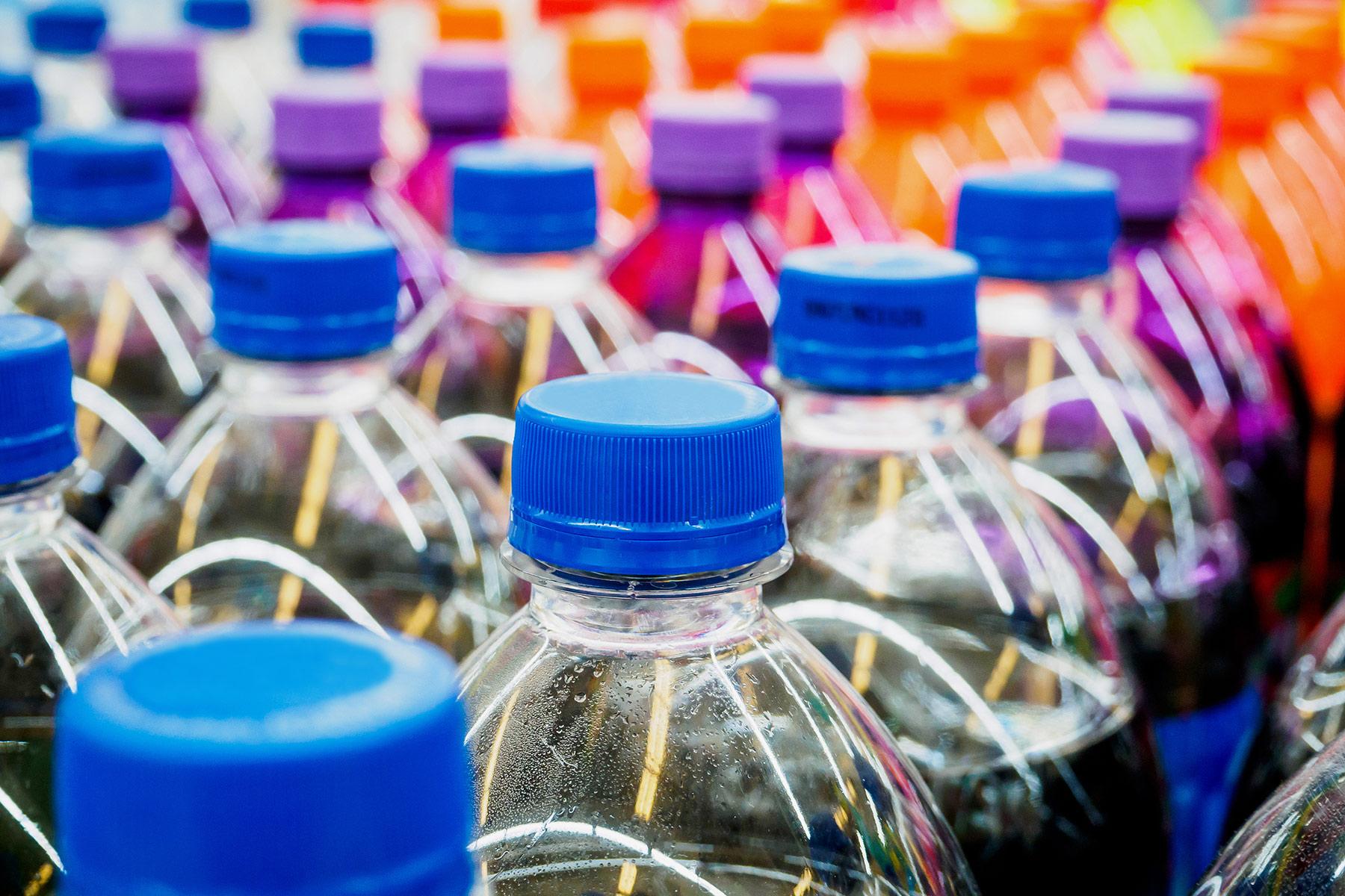soda bottles lined up
