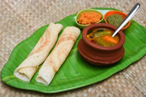 Dosa with sambar