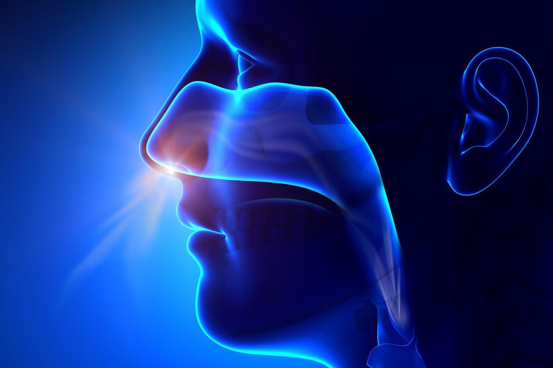 photo of breathing through nose