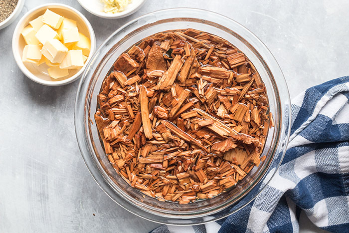 soaking wood chips for smoked prime rib without a smoker recipe